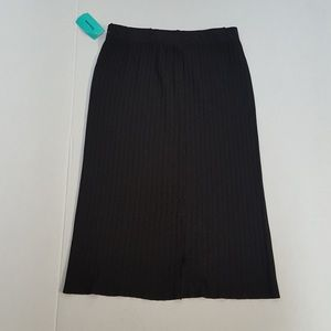 Americana Knit Ribbed Pencil Straight Skirt Sz M